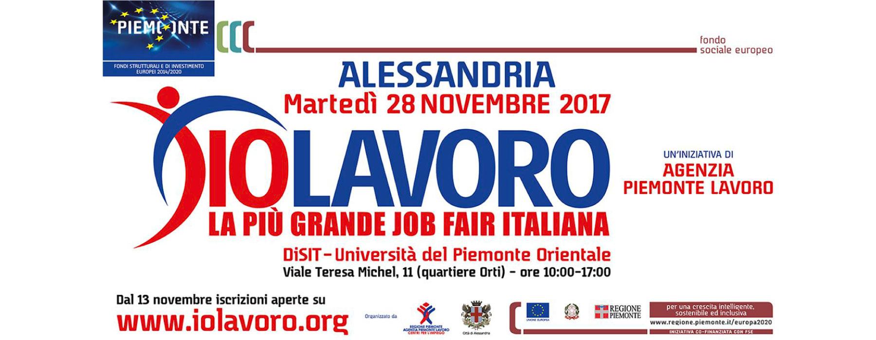 Locandina IoLavoro Alessandria