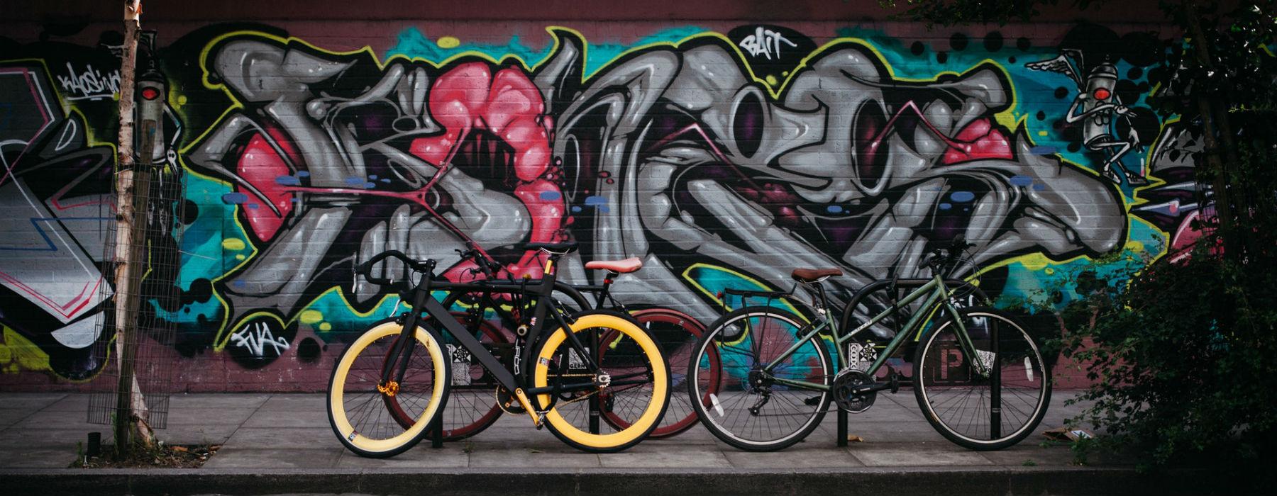 Street art e biciclette