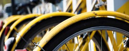 Bibiclette del servizio di bikesharing Tobike di Torino