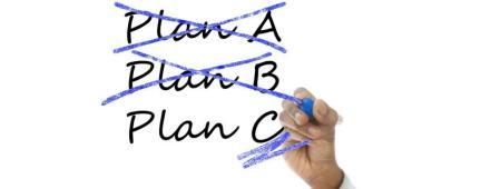 Scritte Piano A e Piano B cancellate, scritta Piano C sottolineata