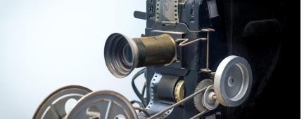 Vecchia videocamera a pellicola