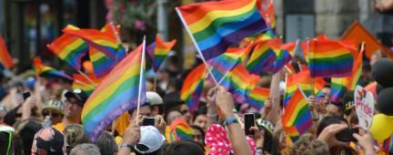 Manifestazione a difesa dei diritti LGBT