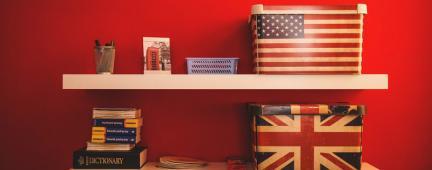 Scaffali e dizionari