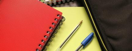 Quaderni di appunti e biro