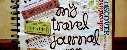 Diario di viaggio con biglietti del treno e appunti